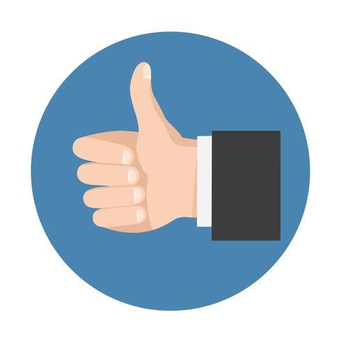 Simbolo del pollice su per social network vettore