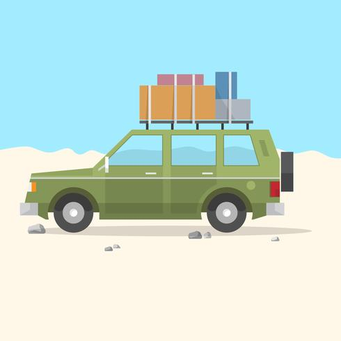 travel car suv - road trip vettore