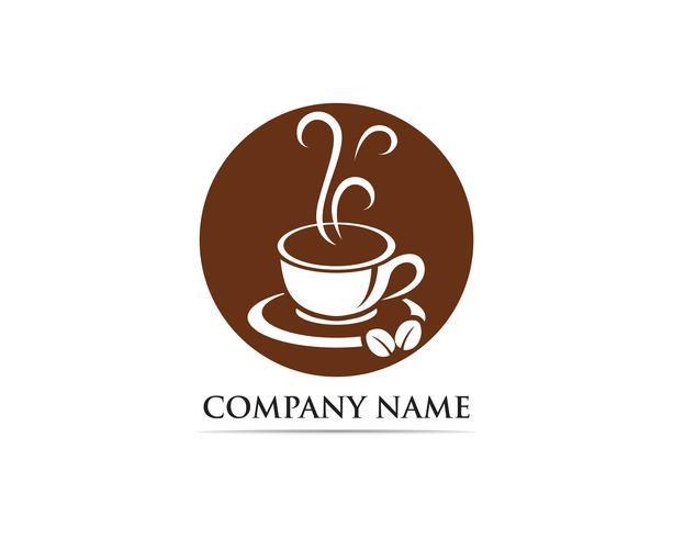 Icona della tazza di caffè Logo modello vettoriale
