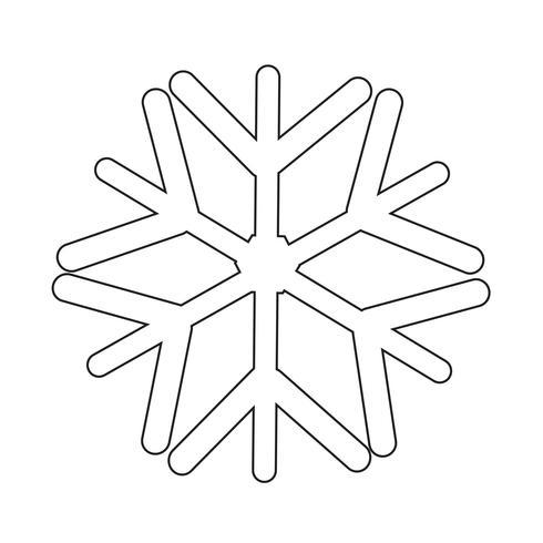 Segno di simbolo dell'icona del fiocco di neve vettore