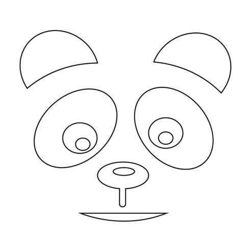 segno simbolo icona panda vettore