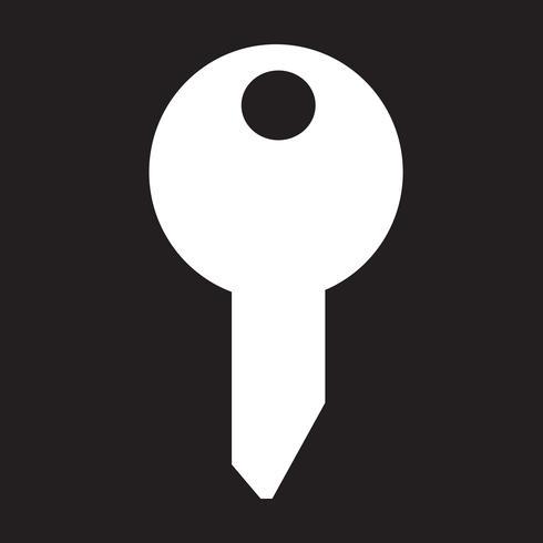 segno chiave icona simbolo vettore
