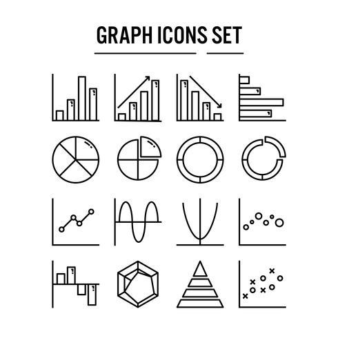 Icona del grafico e del diagramma nella progettazione del profilo vettore