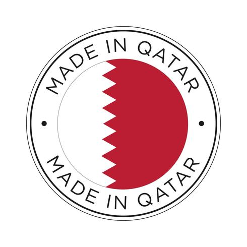 realizzato in icona bandiera qatar. vettore