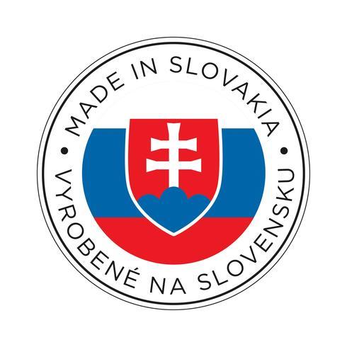 realizzato in icona bandiera slovacchia. vettore