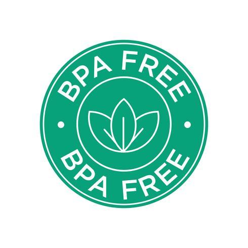 Icona BPA gratuita. vettore