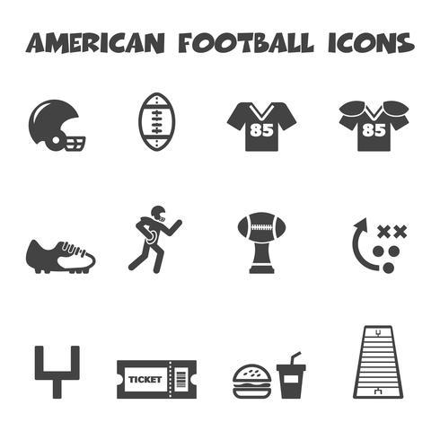 icone di football americano vettore