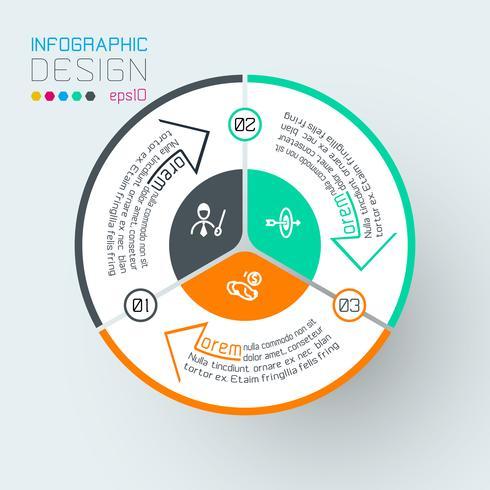 Infografica su grafica vettoriale. vettore