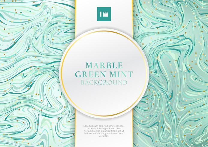 Fondo e struttura di marmo della menta verde con lo spazio di lusso di stile dell'etichetta bianca e dorata per testo. vettore