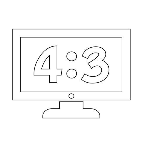illustrazione di disegno dell'icona della TV vettore