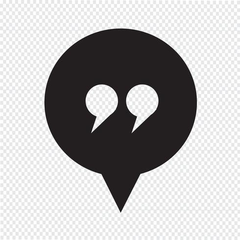 segno di dialogo icona simbolo vettore
