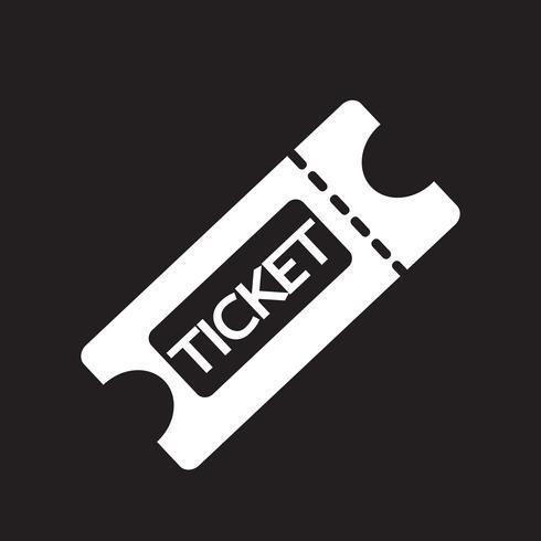 segno di simbolo dell'icona del biglietto vettore