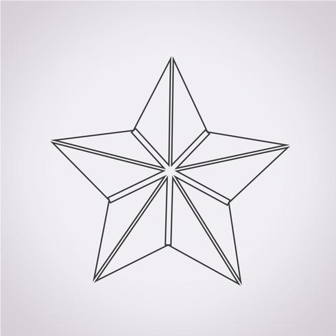 Segno simbolo icona stella vettore