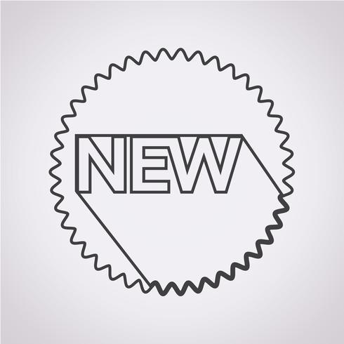 Nuova icona simbolo segno vettore