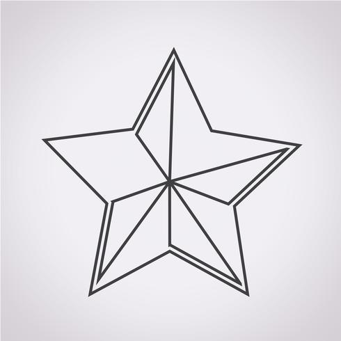 Star Icon symbol sign vettore