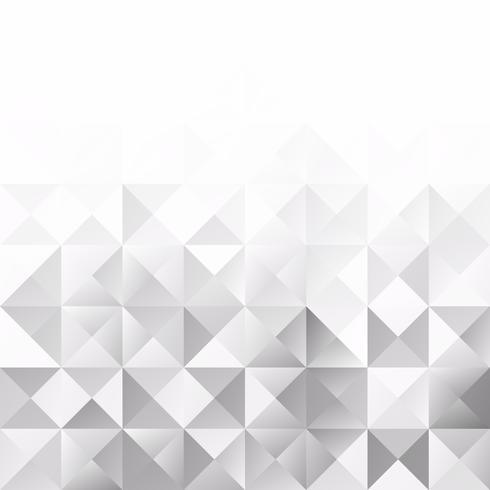 Sfondo di mosaico grigio griglia bianca, modelli di design creativo vettore