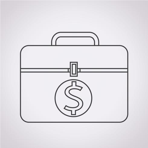 Segno simbolo icona denaro vettore