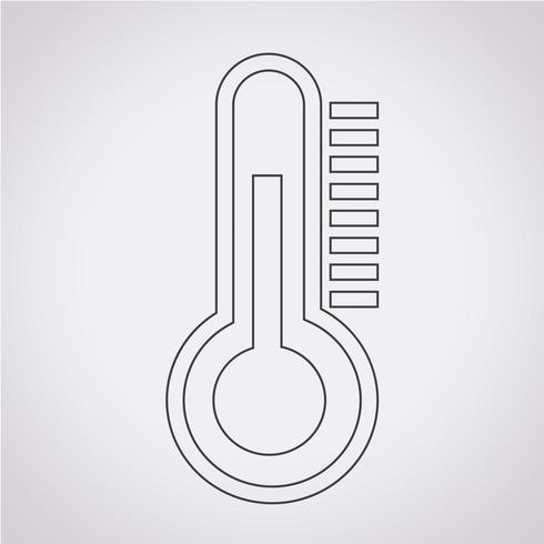 termometro icona simbolo segno vettore
