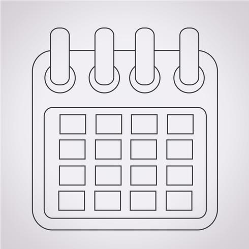 Icona calendario segno simbolo vettore
