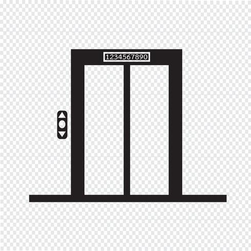 segno dell'icona di ascensore simbolo vettore