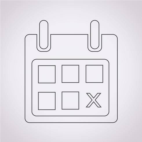segno di icona del calendario vettore