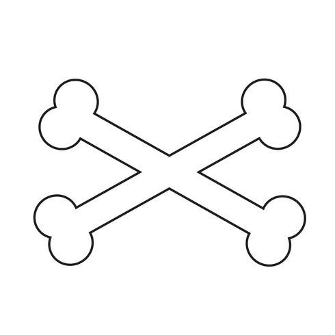 Osso segno simbolo icona vettore