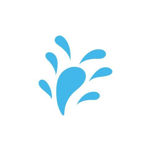 Illustrazione di vettore del modello di logo dell'acqua della spruzzata