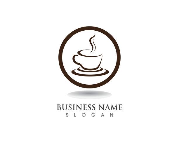 Icone di vettore del modello di logo di caffè