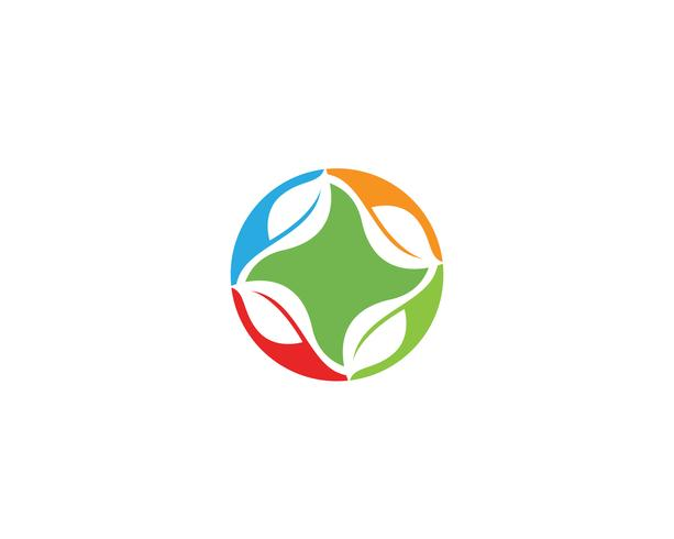 ecologia logo natura elemento vettoriale