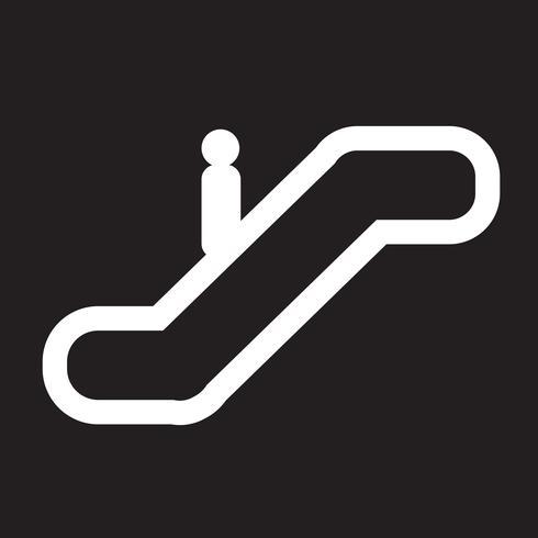 Segno di simbolo dell'icona dell'elevatore vettore