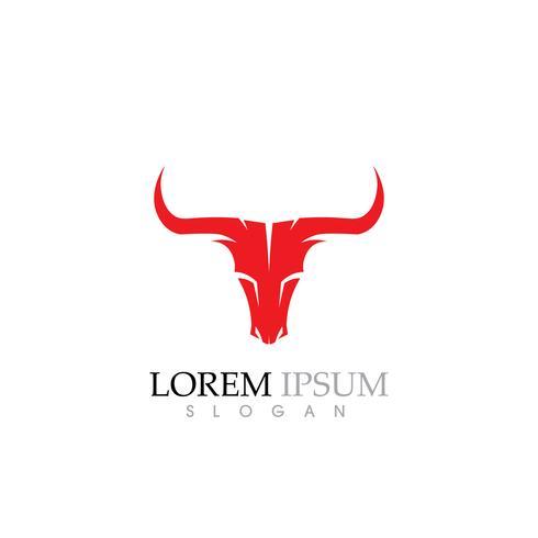 Icona di vettore del modello di Logo di mucca