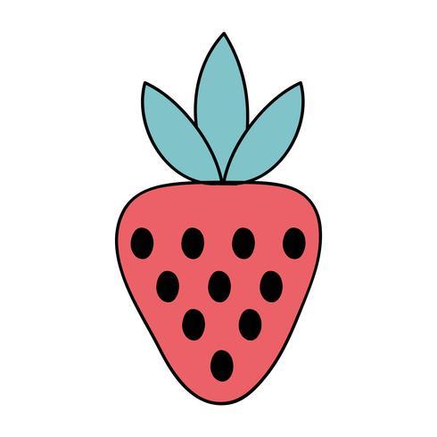 delizioso cibo di frutta biologica alla fragola vettore