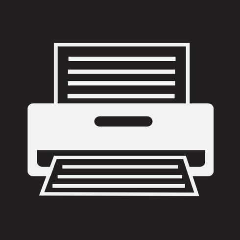 Segno simbolo icona stampante vettore
