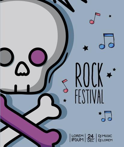 concerto di musica rock festival evento vettore