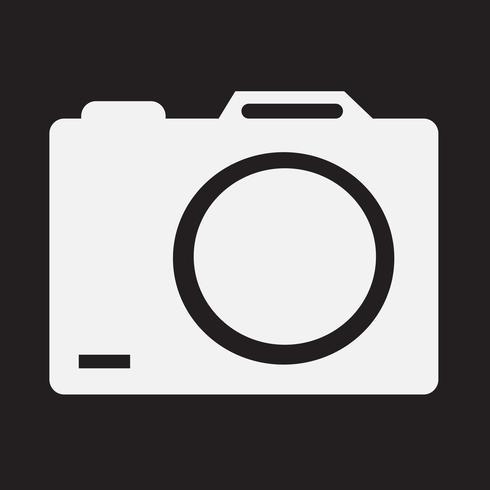 segno simbolo icona della fotocamera vettore