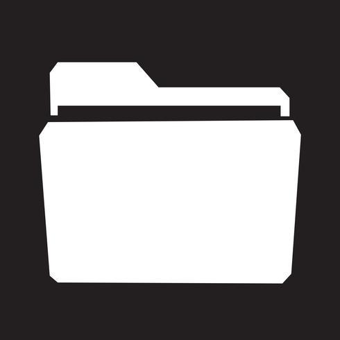 Cartella simbolo segno simbolo vettore