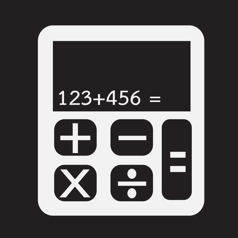 segno di simbolo dell'icona del calcolatore vettore