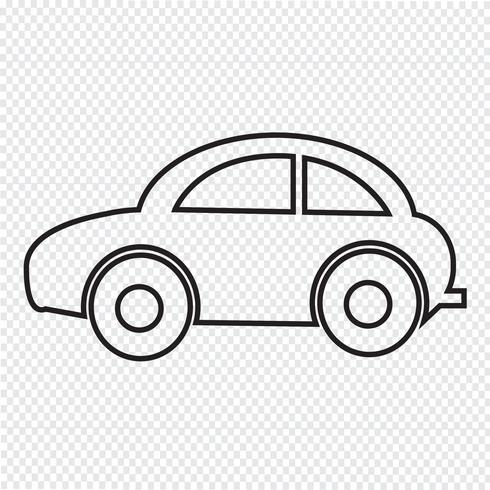 Car segno simbolo icona vettore