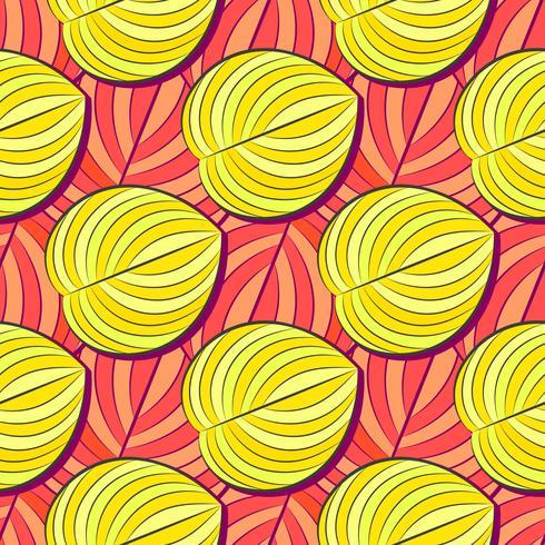 Motivo tropicale, a strisce, animali. Linea Seamless Pattern E La Trama Del Cod. Fiore moderno di estate, foglia sulla forma dell'estratto della spazzola. Vettore tropicale