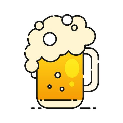 Cold Beer Icon pronto per il tuo design, Greeting Card, Banner. Illustrazione vettoriale