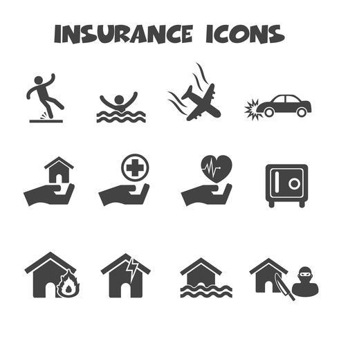 simbolo di icone di assicurazione vettore