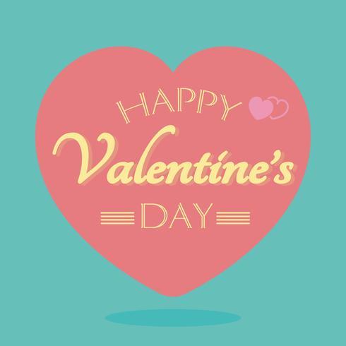 felice giorno di San Valentino vettore