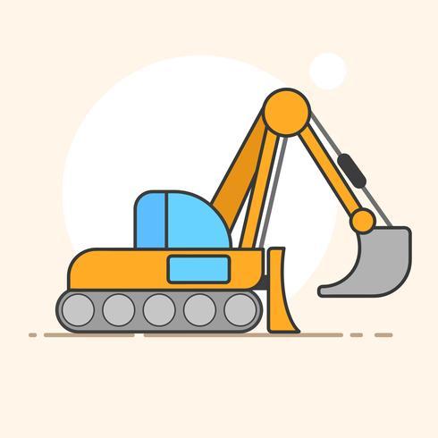 Logo vettoriale di escavatore per le esigenze di progettazione. Vettore