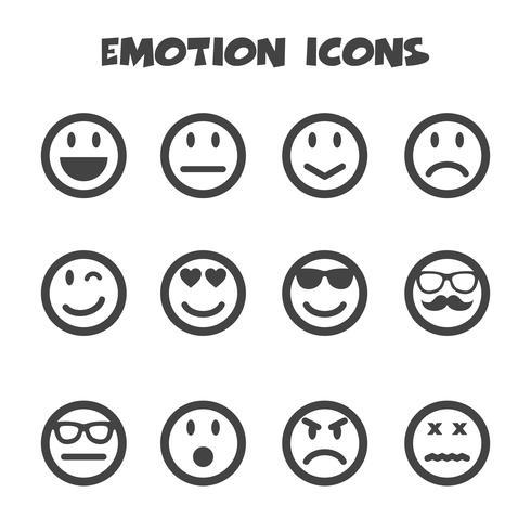 simbolo di icone di emozione vettore