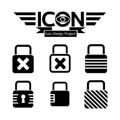 Lock Icona simbolo vettore
