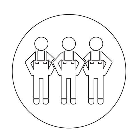 Segno di simbolo dell'icona di persone vettore