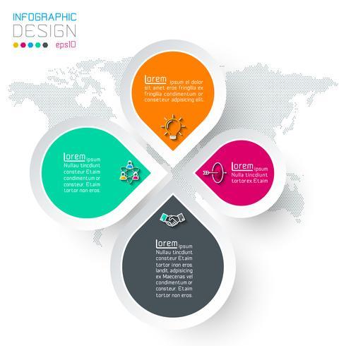Cerchi con infografica icona di affari. vettore