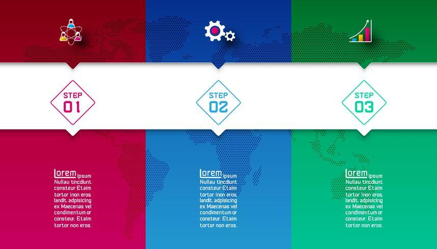 Barre colorate con infografica icona di affari. vettore