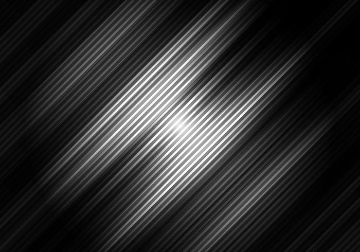Astratto sfondo di colore bianco e nero con strisce diagonali. Motivo geometrico minimale È possibile utilizzare per la progettazione di copertine, brochure, poster, pubblicità, stampa, depliant, ecc. vettore