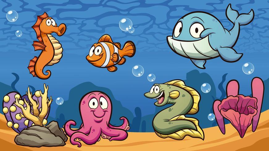 Creature marine vettore
